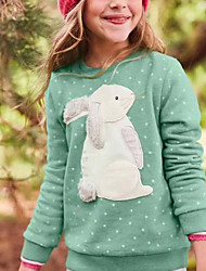 abordables -Enfants Fille Basique Imprimé Manches Longues Pull & Cardigan Vert Claire