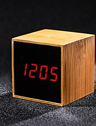 cheap -Wooden LED Digital Alarm Clock
