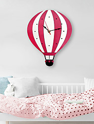 cheap -M.Sparkling 2019 New Cartoon Hot Air Balloon Wall Clock Mute Clocks Colorful Acrylic Wall Watch Unique Gift For Children