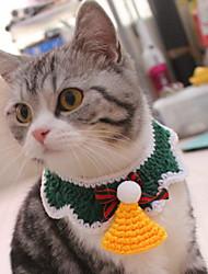 Недорогие -Собаки Коты Животные Шарф для собаки Зима Одежда для собак Зеленый Костюм Полиэстер Бант Рождество Косплей Рождество XS S M L