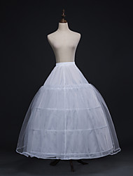 cheap -Wedding / Party / Evening Slips Polyester / Tulle Floor-length A-Line Slip / Bridal with
