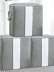 cheap -Large Capacity Storage Bag, Thick Fabric Clothes Storage Organizer for Comforters, Blankets, Bedding, Clothing, 3 Pack, Grey Under Bed Storage