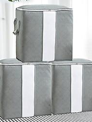 Недорогие -мешок для хранения большой емкости, органайзер для хранения одежды из плотной ткани для стеганых одеял, одеял, постельных принадлежностей, одежды, 3 упаковки, серый для хранения под кроватью
