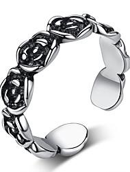 cheap -Open Cuff Ring Black Alloy Flower Folk Style Steampunk 1pc Adjustable / Women's