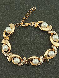 cheap -Women's Bracelet Beads Flower Elegant Alloy Bracelet Jewelry Gold / Silver For Daily