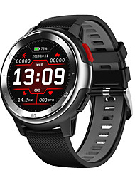 cheap -DT68 Smartwatch Digital Modern Style Sporty Silicone 30 m Water Resistant / Waterproof Heart Rate Monitor Bluetooth Digital Casual Outdoor - Black / Yellow Black / Gray White