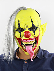 cheap -Mask Halloween Props Halloween Mask Inspired by Ghost Clown Scary Movie Green+Yellow Masks Halloween Halloween Men's Women's