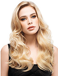 cheap -Synthetic Wig Curly Middle Part Wig Blonde Long Strawberry Blonde / Light Blonde Synthetic Hair 22 inch Women's Women Blonde