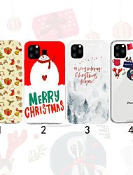 cheap -Case For Apple iPhone 11 / iPhone 11 Pro / iPhone 11 Pro Max Transparent / Pattern Back Cover Christmas TPU