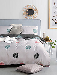 cheap -Duvet Cover Sets Polka Dot Polyester / Polyamide Reactive Print / Printed 3 PieceBedding Sets