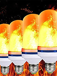 cheap -4pcs E27 LED Flame Light Bulbs 99 LEDs Flickering Blaze Lamp Light Bulb Flame Effect Fire Lamps Emulation Holiday Decoration Halloween Party Christmas Gift AC85-265V