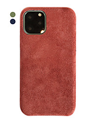 cheap -Case For Apple iPhone 11 / iPhone 11 Pro / iPhone 11 Pro Max Ultra-thin Back Cover Solid Colored / Plush TPU / Cotton Fabric