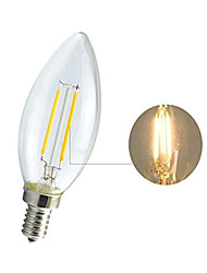 cheap -1pcs LED Filament Bulb 2W E14 Retro Edison Lamp 220V Vintage C35 Candle Light Ampoule Lighting COB Home Decor