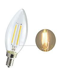 cheap -1pcs LED Filament Bulb 2W E14 Retro Edison Lamp 220V Vintage C35 Candle Light Ampoule Lighting COB Home Decor