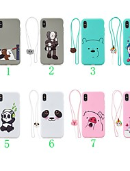cheap -Case For Apple iPhone XS / iPhone XR / iPhone X Ultra-thin / Pattern Back Cover Animal / Cartoon / Panda TPU