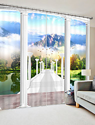cheap -Lawn Digital Printing 3D Curtain Shading Curtain High Precision Black Silk Fabric High Quality Curtain