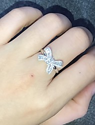 cheap -Women's Ring 1pc Silver Platinum Plated Alloy Wedding Gift Jewelry Cute / Daily