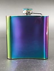 cheap -Gifts Infinity Raindow Stainless Steel Hip Flask  8oz,