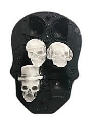 Недорогие -Хэллоуин черепа отверстия 1 шт. 6 черепов лед силиконовые формы для выпечки торт хлеб мусс желе готовые продукты шоколад мыло лед