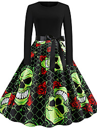 cheap -Audrey Hepburn Dress Adults' Women's Retro Vintage Halloween Halloween Festival / Holiday Polyester Black Women's Carnival Costumes
