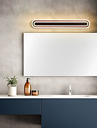 cheap -LED Mirror Lamp 60cm 17W Dressing Table Makeup Nordic Style Bathroom Lighting Flush Mount Wall Lights Nordic Coffee Color Indoor Iron Wall Light