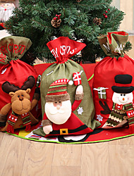 cheap -Large Three-Dimensional Linen Christmas Gift Bag Santa Claus Gift Bag