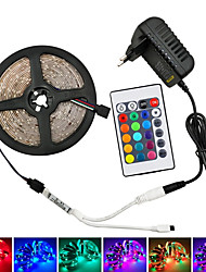 cheap -LED 12V SMD 5050 RGB LED Strip Lights LED Tape Multi-colors with 44Keys Remote 300 LEDs Non-waterproof Light Strips with Driver