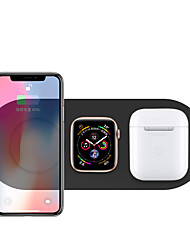 cheap -Wireless Charging Pad 3 in 1 Fast Wireless Charger Stand Mat Dock for AirPods/iPhone 11/11 pro/XR/XS/ 8/8 Plus and Samsung and Huawei and Apple Watch Series