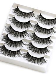 cheap -5 Pairs/Pack Real 3D Mink Fake Eyelashes False Eyelashes Mink Lashes Soft Natural Eyelash Extension Lashes Makeup