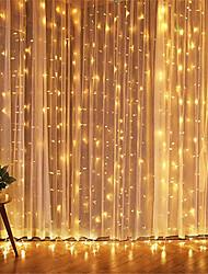 abordables -1 pcs 3 * 3 m led glaçon led rideau fée stringllight fée lumière 300 led lumière de noël pour mariage maison fenêtre parti décor