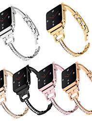cheap -For apple watch1/2/3/4/5 wristwatch Diamond Set Stainless Steel Watch Strap Bracelet Fashion Watch Strap Steel Belt