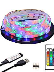cheap -2M Waterproof LED Strip Light RGB Tiktok Lights 5V USB TV Backlight 2835 Lighting for TV Room Holiday Decoration with 24 Keys Remote Controller