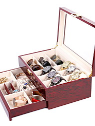 cheap -Mens Watch Box Organizer with Key Lock Glass Window for sunglass 、watch