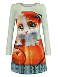 cheap -Cat Dress Adults' Women's Retro Vintage Halloween Halloween Festival / Holiday Polyester White Women's Carnival Costumes
