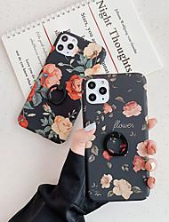 abordables -Coque Pour Apple iPhone 11 / iPhone 11 Pro / iPhone 11 Pro Max Anneau de Maintien / Motif Coque Fleur TPU
