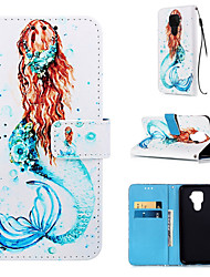 cheap -Case For Huawei Huawei P Smart 2019 / Huawei Honor 8A / Huawei Mate 20 lite Wallet / Card Holder / with Stand Full Body Cases Sexy Lady PU Leather