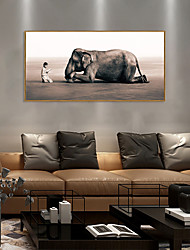 cheap -Framed Art Print Framed Set - People Animals PS Photo Wall Art