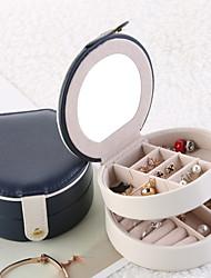 Недорогие -ювелирный органайзер для женщин - переносная коробка для украшений и аксессуаров из кожи