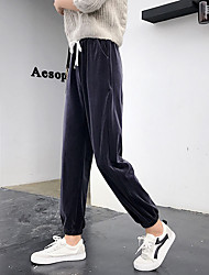 cheap -Women's Jogger Pants Joggers Running Pants Track Pants Sports Pants Beam Foot Drawstring Velour Sports Winter Pants / Trousers Bottoms Running Fitness Soft Solid Color Fashion Black Brown Dark Grey