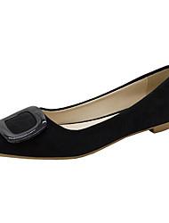 cheap -Women's Flats Flat Heel Pointed Toe PU Minimalism Fall Pink / Black / Beige