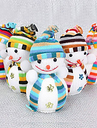 cheap -4PCS Christmas Snowman Hanging Doll Exclusive For Home Christmas Tree Decorations Children's Gift Tiny Toy Random Color