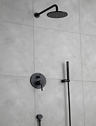 cheap -Stainless Steel Shower Faucet Set Rainfall Contemporary Wall Mounted Bath Shower Mixer Taps with Ceramic Valve