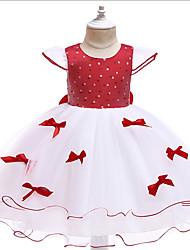 cheap -Girl Dress Kids Ruffles  Polka Dot Dress  Lace Party Dresses