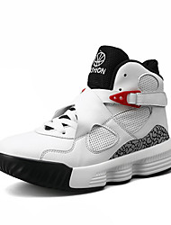 cheap -Men's Comfort Shoes PU Fall Sporty Athletic Shoes Basketball Shoes Non-slipping Black / Red / White / Gray