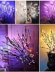 Недорогие -1 шт. Рождественская елка светодиодный ночной свет теплый белый / RGB / белый батарейки< 5 в Рождество / Новый год