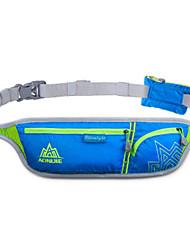 cheap -Hiking Waist Bag Rain Waterproof Anti-Slip Wearable YKK Zipper Outdoor Running Ice Skating Downhill Nylon Black Fuchsia Orange