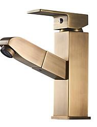 abordables -Robinet lavabo - Séparé Plaqué Sur Pied Mitigeur un trouBath Taps