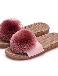 cheap -Women and Men's Comfortable Casual Cotton Flax Slipper Indoor