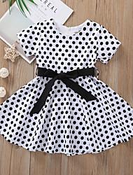 cheap -Kids Little Girls' Dress Polka Dot White Black Blue Dresses