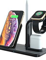 cheap -Wireless Charger 3 in 1 Charging Holder Compatible with Apple Watch Series 5 4 3 2 1 AirPods 10W Qi Wireless Charging for iPhone 11 Pro Max/11 Pro/11/X/XS/XR/Xs Max/Samsung S10